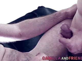 Bdsm tranny domina gets throated and fucks