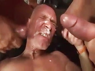 2 shemales cumming on guy's face