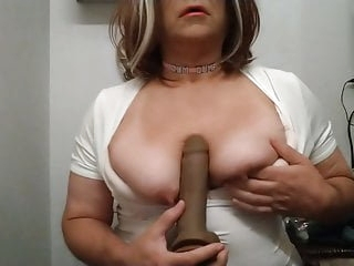 Jennifer Boobs playing with tits and dildo