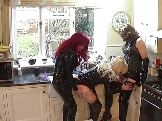 Alison, Zara and Sally - PVC Cock Sucking Crossdressers