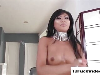Asian Babe Ember Rides Ts Chanels Cock