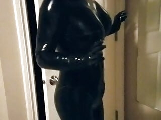 First Time In New Rubber Doll Boob Suit