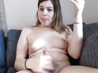 Sexy Swedish babe talks dirty and cums
