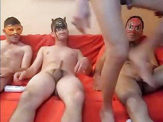 Shemale gangbang 3men 1tranny ,by danni dee