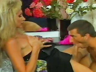 Vintage blonde fucks a guy