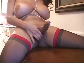 Big Tit Latina Shemale In Lingerie Solo 2
