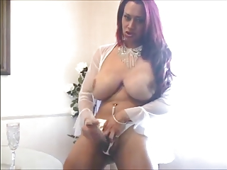 Big Tit Latina Shemale In Lingerie Solo