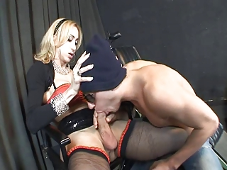 Huge Cock Shemale Sucked and Fucked