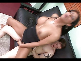 Delicious Mocha Shemale Fucked