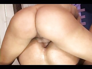 Big Cock Tranny Makes Him Cum