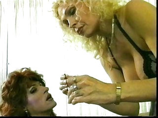 Wild mature & her Tgirl slave