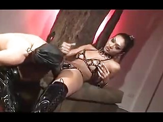 Asian LadyboyMistress and her toy