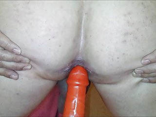 Anal sex toy prostata milking and final cumshot...