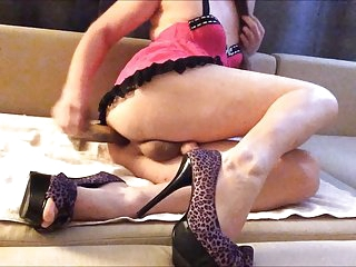dressed up slut quickie fuck and cum in heels