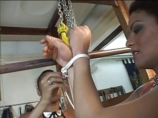Tranny slut bound and teased