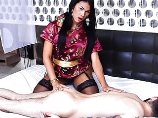 LETSDOEIT - Hot Tranny Gives Erotic Massage & Enjoys Anal