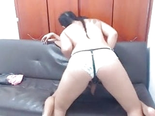 Strong girl pegging her sissy boy